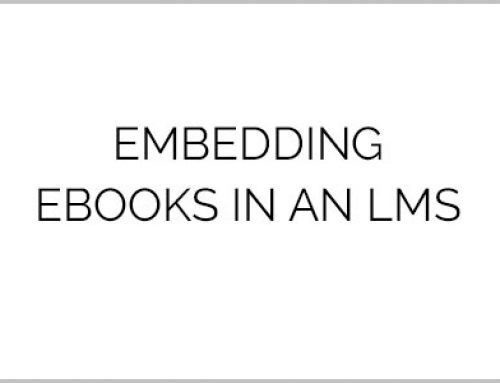 Embedding eBooks in an LMS